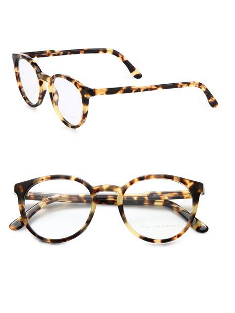 stella mccartney acetate eyeglasses in brown lyst
