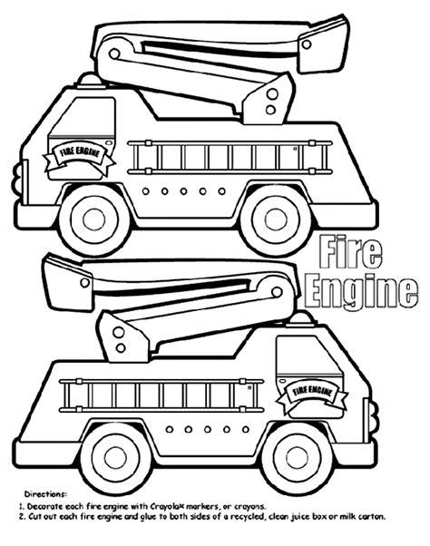 car coloring page crayola fire engine box crayola co uk