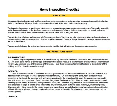 home inspection form standardized home inspection reports home