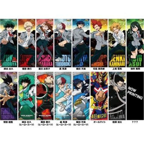 My Academia Set 1 my academia character poster collection set of 8 pieces