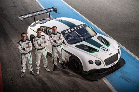 bentley continental gt3 r racecar bentley names driver lineup for its gt3 motorsport comeback