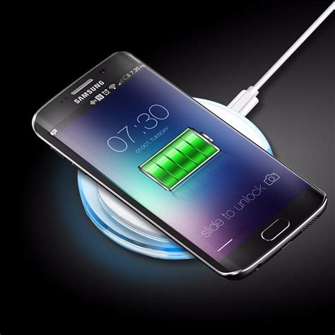 clear qi wireless charger charging pad  samsung galaxy