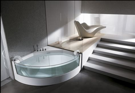 bathroom with bathtub design a quarter glass bathtub and jacuzzi ideas iroonie com