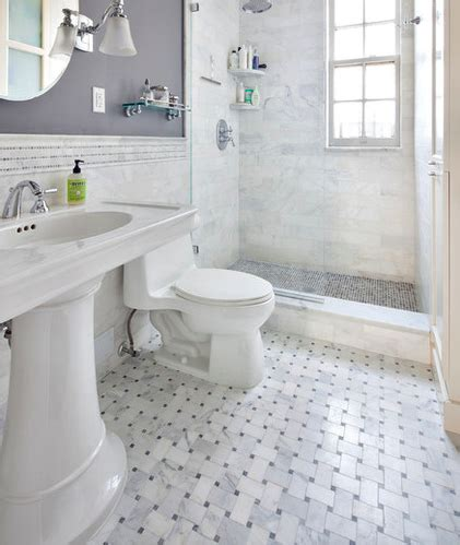 marble basketweave tile traditional bathroom carrara bianco wide basketweave honed the builder depot blog