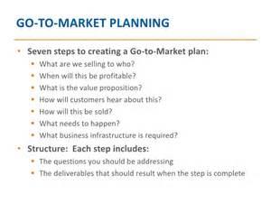 go to market planning