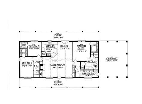 Design For Rectangular Plot | 30x50 rectangle house plans expansive one story i would