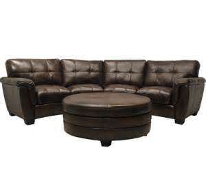 Convertible leather small sectional sofa for a confined living room