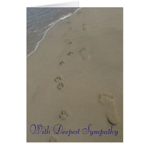 3x4 Note Card Template With Paw Print by Paw Prints Sympathy Card Zazzle