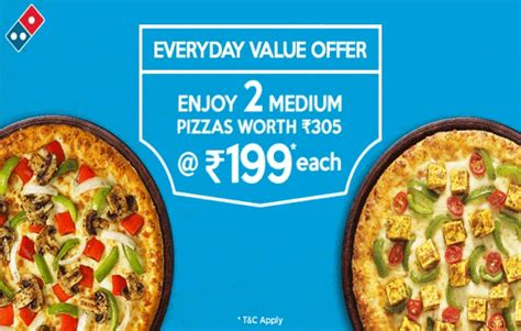 domino pizza offer today dominos pizza offer buy 2 medium pizza 199 each 20