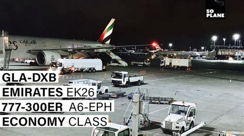 emirates glasgow to dubai trip report emirates 777 300er glasgow dubai