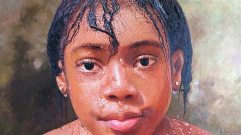 biography of nigerian artist this isn t a photo it s an oil painting by a nigerian
