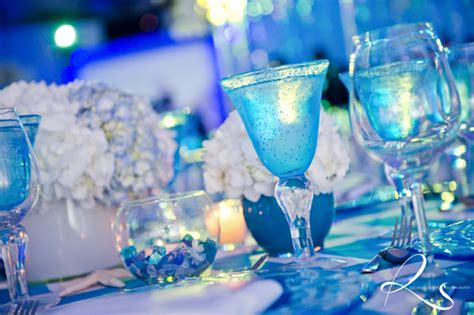 The Sea Table Decorations by The Sea Bat Mitzvah Nautical