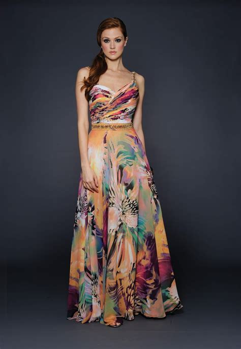 Longdress Print of wedding and occasion wear print dresses for