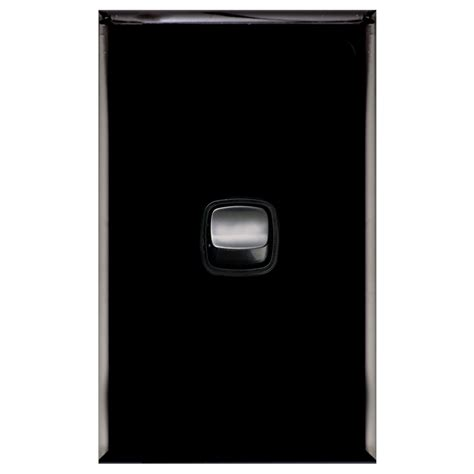 black on light switch hpm excel 1 light switch bunnings warehouse