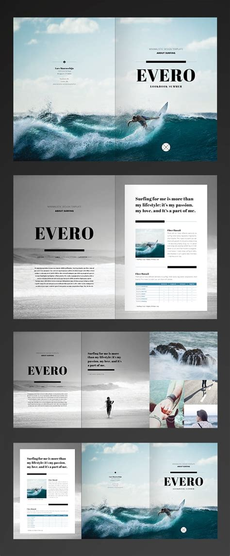 pinterest layout indesign serif lines photos grid black white photography