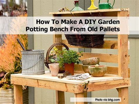 how to make a diy garden potting bench from old pallets