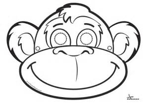 monkey mask template monkey mask coloring coloring pages