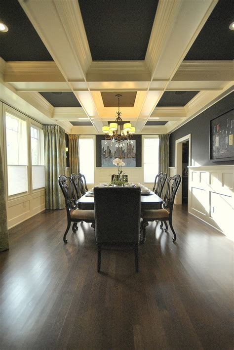 edmonton images  coffered ceilings dining room