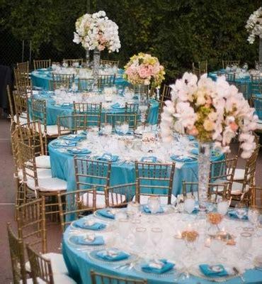 teal blue decorations d 233 coration de mariage bleu turquoise mariageoriginal