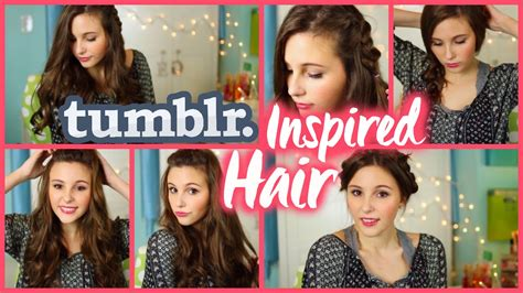 Quick & Easy Tumblr Inspired Hairstyles!   YouTube