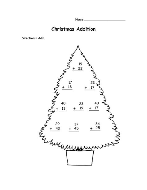 15 best images of christmas worksheets coloring addition