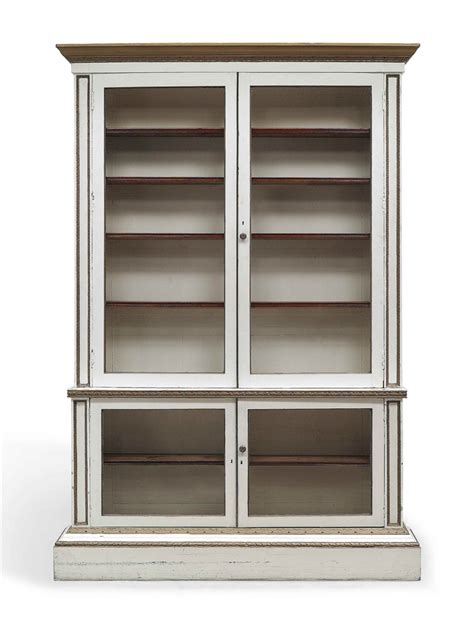 A George Ii White Painted And Parcel Gilt Library Bookcase White Library Bookcase