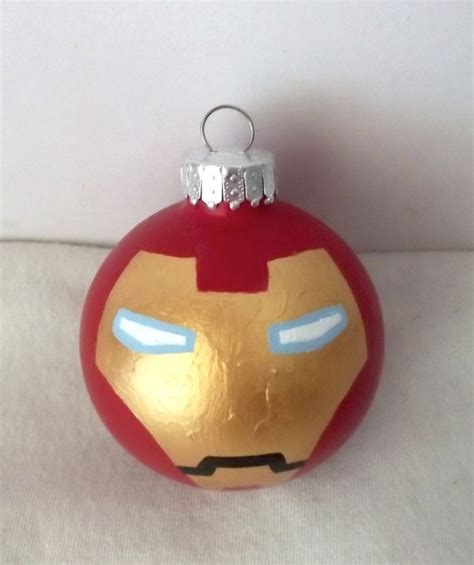 avengers iron man painted holiday ornament marvel