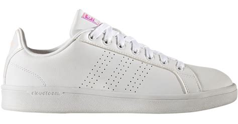 Original Adidas Neo Advantage Baby Pink White adidas originals neo cloudfoam advantage clean casual shoes in white lyst