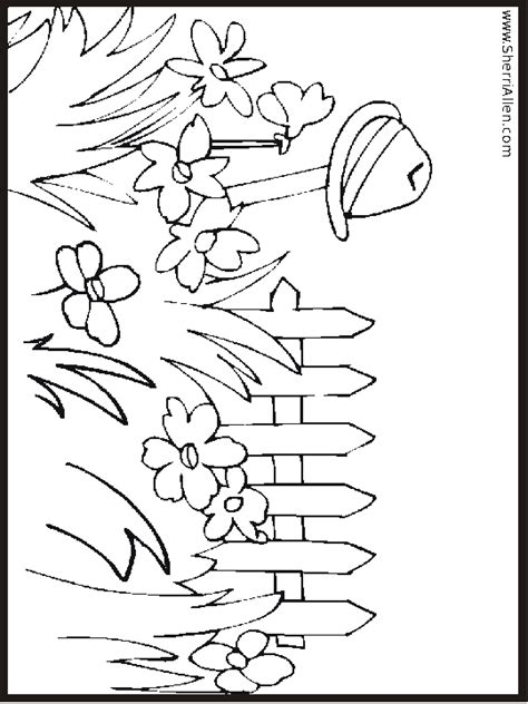 summer garden coloring page summer flower garden coloring page