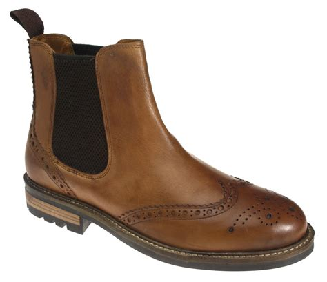 quality mens boots callan quality cleated leather pull on brogue