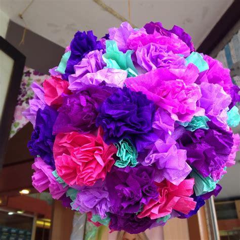 cadenas navideñas de papel crepe flores con papel crep 233 facilisimo