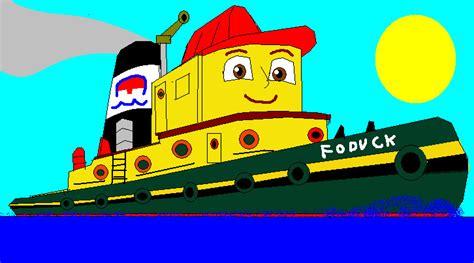 tugboat cartoon movie foduck the tugboat by carsdude