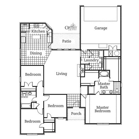 odyssey floor plan the marshall rear odyssey homes