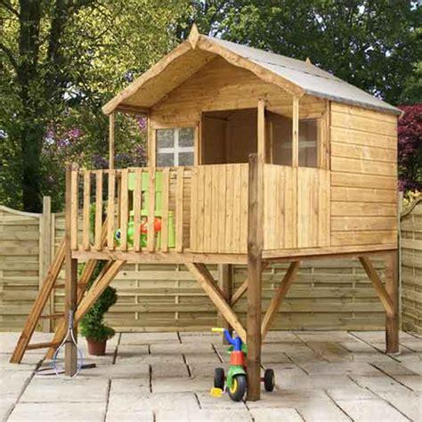 wooden backyard playhouse tower wooden wendy playhouse kids wood tower garden den
