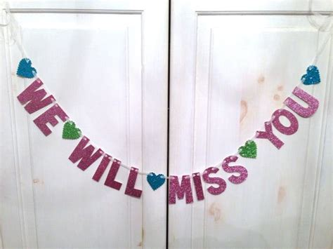 printable we missed you banner we will miss you banner going away party banner photo