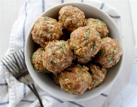 recipes for ground turkey meatballs turkey meatballs with apple spinach and provolone jehan