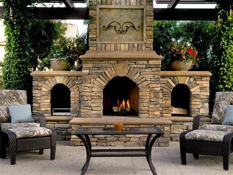 outdoor stone fireplace outdoor fireplace design ideas hgtv