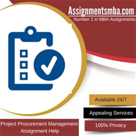 Mba In Procurement Management by Project Procurement Management Mba Assignment Help