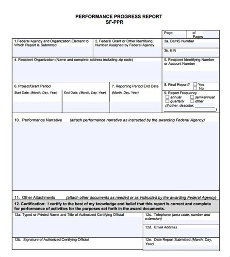 progress report template 11 sle progress reports sle templates