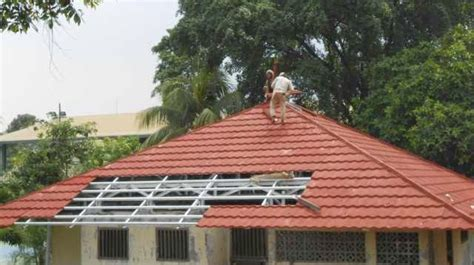 Atap Multiroof Lapis Pasir genteng metal sky roof lapis pasir berpasir murah