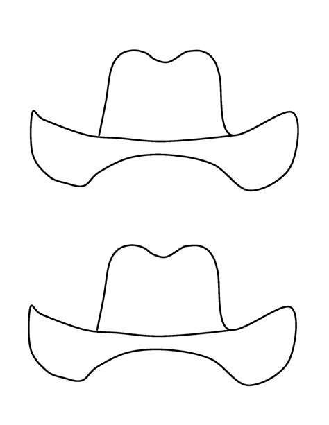 cowboy hat template totally terrific in cowboy adjectives