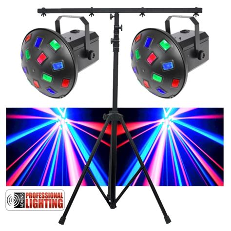 best led lights for mobile dj led dj lighting pack dual led lights stand