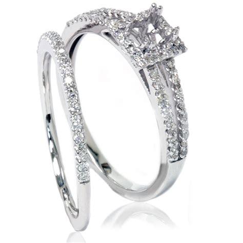 3 8ct split shank princess cut halo engagement ring