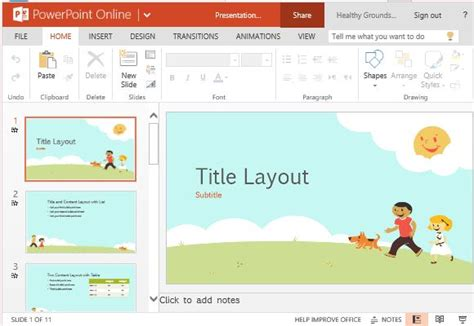 children playing educational template for powerpoint online