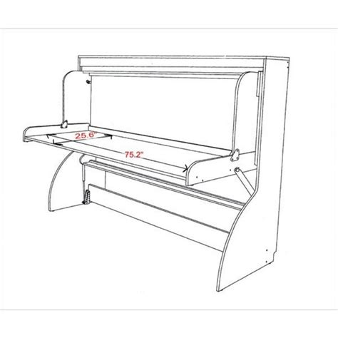 murphy bed desk plans frh0327 p twin single hiddenbed m1 mechanism kit for