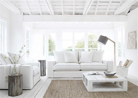 white interiors homes beach house design styles