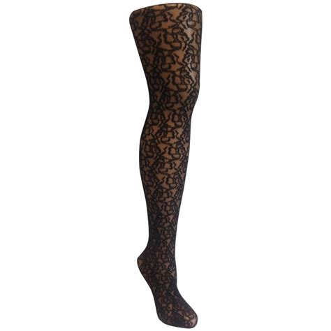 Patterned Lace Tights | flowery lace patterned tights