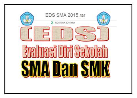 format evaluasi diri sekolah sma 2015 aplikasi excel eds jenjang sma smk excel galeriguru