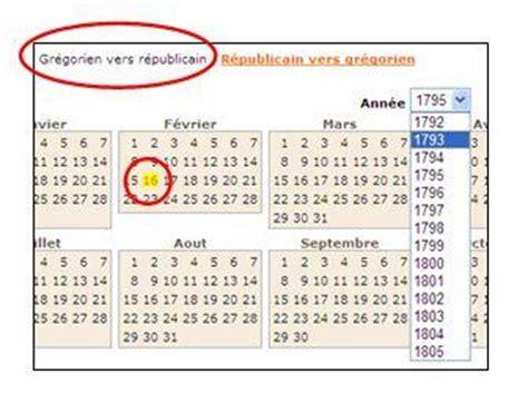 Calendrier Republicain Francais Le Calendrier R 233 Publicain Mode D Emploi D Archives En