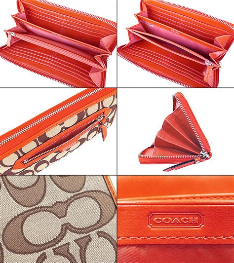 dompet coach outline sign acc zip khaki original authentic import collection rakuten global market and writing